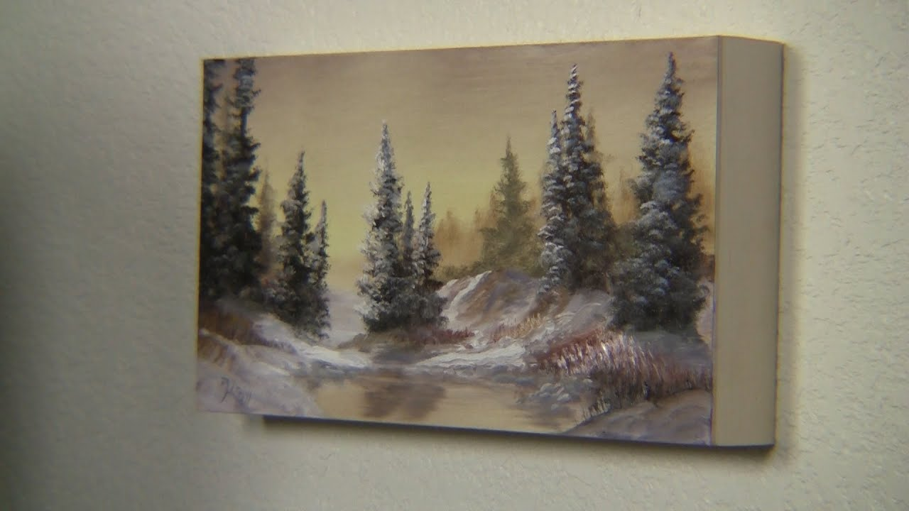 Paint with kevin hill painting on a birch panel youtube for How paint on canvas