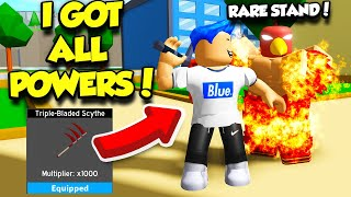 I Unlocked POWERFUL STANDS And ALL MAX POWERS In Anime Fighting Simulator Update! (Roblox) thumbnail