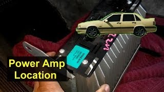 Power amp location for the Volvo 850 - Auto Inforamtion Series