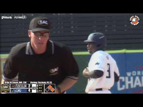 2017 SAC Baseball Championships: Lincoln Memorial V. Tusculum Highlights 4-28-17