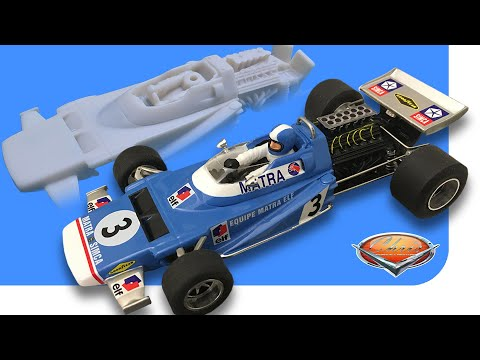 Assembly of a Penelope Pitlane Slot Car Resin kit 1/32 Scale – 1970 MATRA MS120 Formula 1
