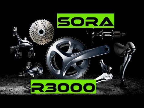 NEW 2017 Shimano Sora R3000 Entry Level Road Bike Components - review.