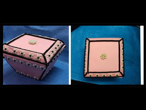 jewelry box with cardboard | Jewelry Storage Case | diy makeup case
