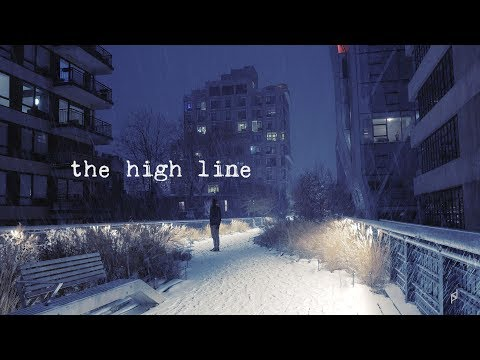 The High Line on snowy night. NYC. 3d sounds. G85 12-60mm