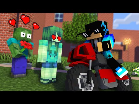 Monster School : ZOMBIE LOVE STORY Challenge - Minecraft Animation