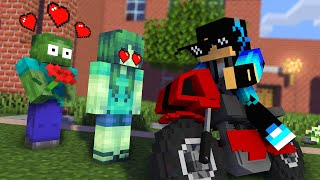 Monster School : ZOMBIE LOVE STORY Challenge - Minecraft Animation