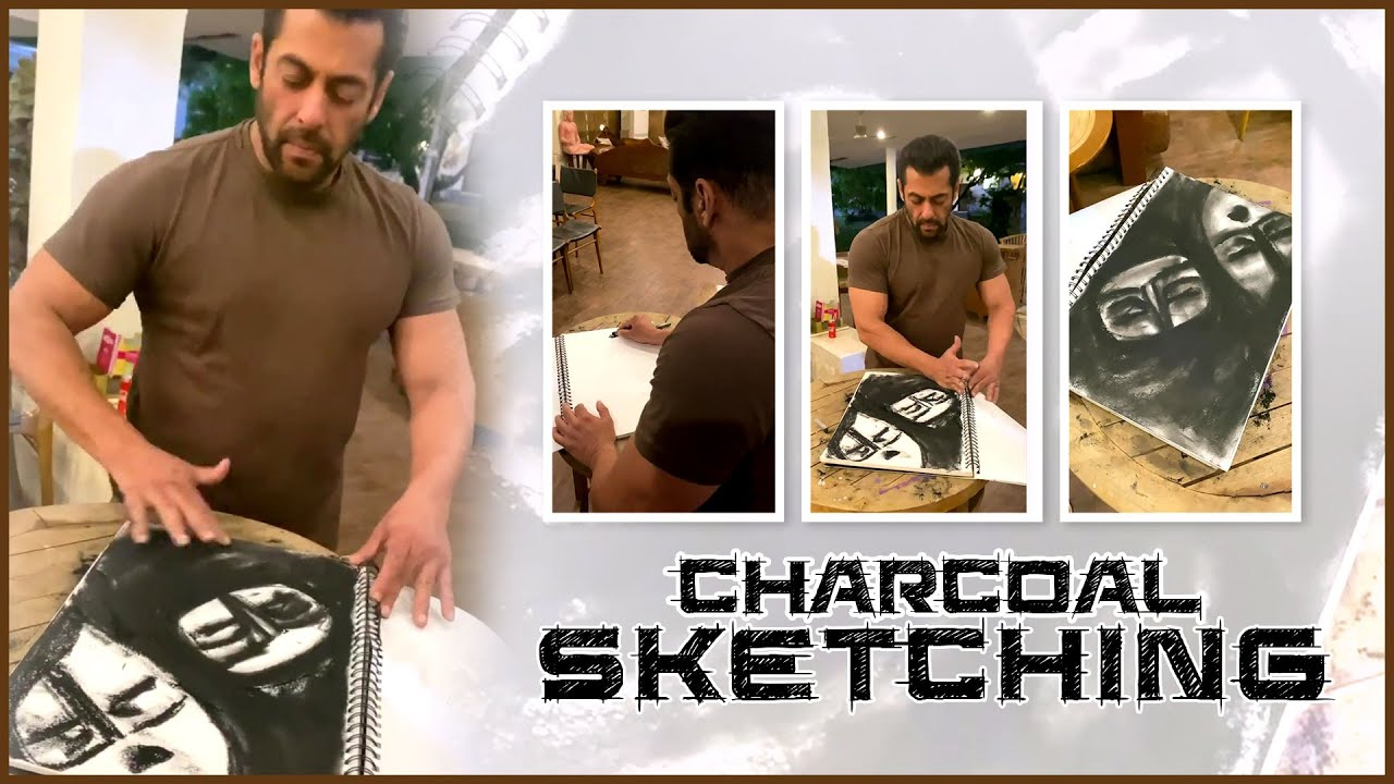 Nothing Is As Relaxing As Sketching | Charcoal Sketching | Salman Khan