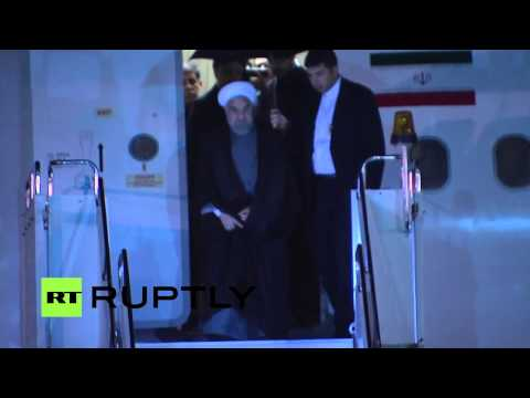 LIVE: President of Iran Hassan Rouhani arrives in Ufa for 7th BRICS summit