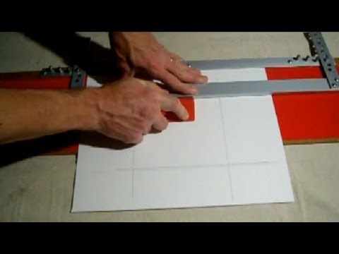 How To Cut Mat For Pictures With EZ Mat Cutter - YouTube