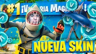 EPIC VICTORIA WITH THE NEW LEGENDARY SKIN *MORDISCAZOS* FROM FORTNITE: Battle Royale!! - Agustin51