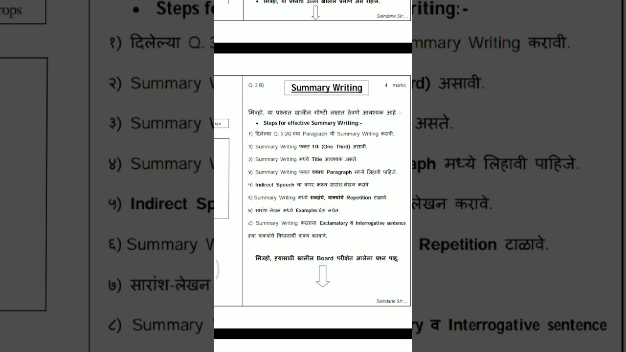 writing skill preparation for Hsc English 2018   Maharashtra BOARD