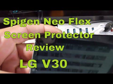 new concept 06a42 e50b6 Spigen Neo Flex Screen Protector review for the LG V30 - YouTube