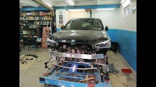 BMW X1.  Работа с алюминиевыми деталями. Сборка авто в кучу.