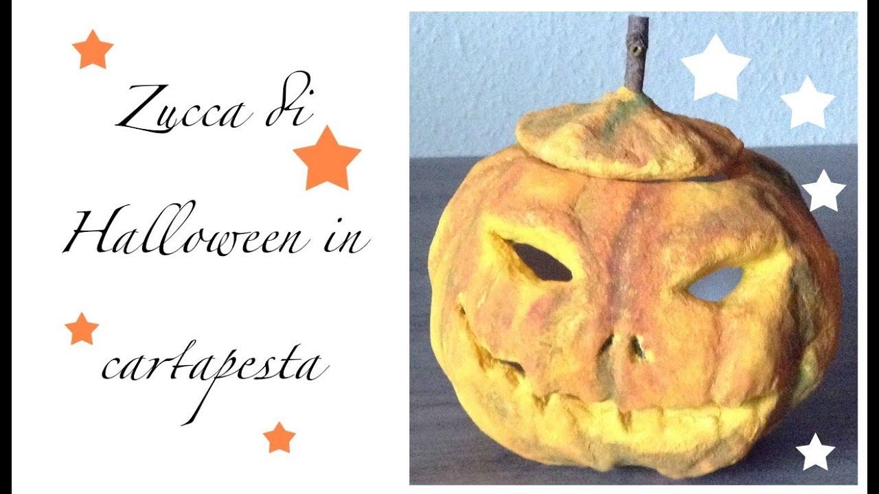 Zucca Halloween Cartapesta.Cartapesta Zucca Di Halloween Diy Tutorial
