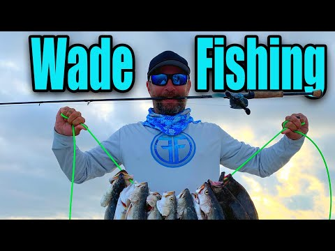 Wade Fishing In Galveston Bay For Trout And Redfish!