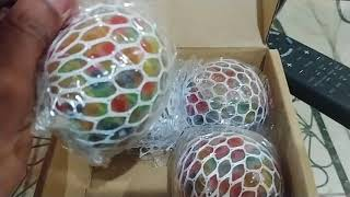 Unboxing/Review with Seth: Xenzy Squishy Grape Ball 4-Pack in Rainbow Colors