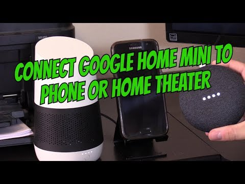 GOOGLE HOME MINI SETUP: CONNECT TO PHONE OR TV SPEAKERS !!!