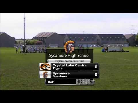 IHSA Girls Soccer Regional: Game 2 - Sycamore vs Central Crystal Lake