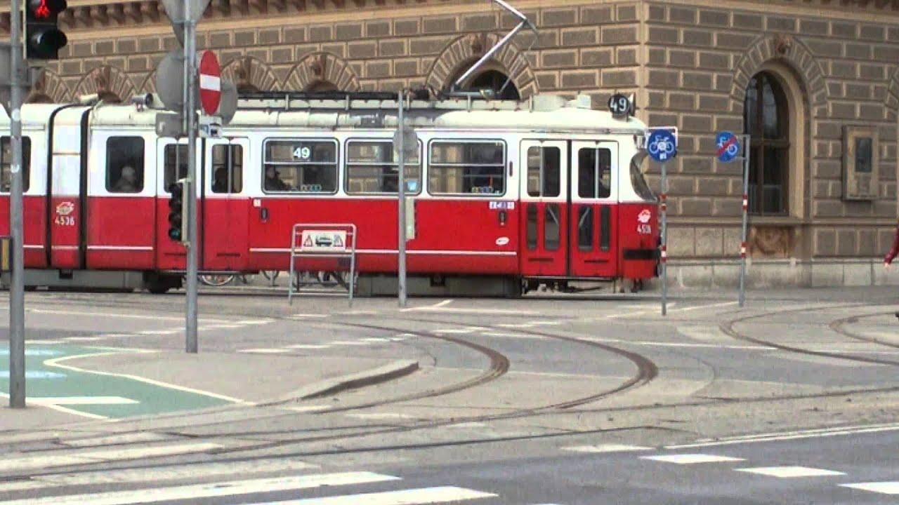 Straßenbahn Linie 49 Dr Karl Renner Ring In Wien3 Youtube
