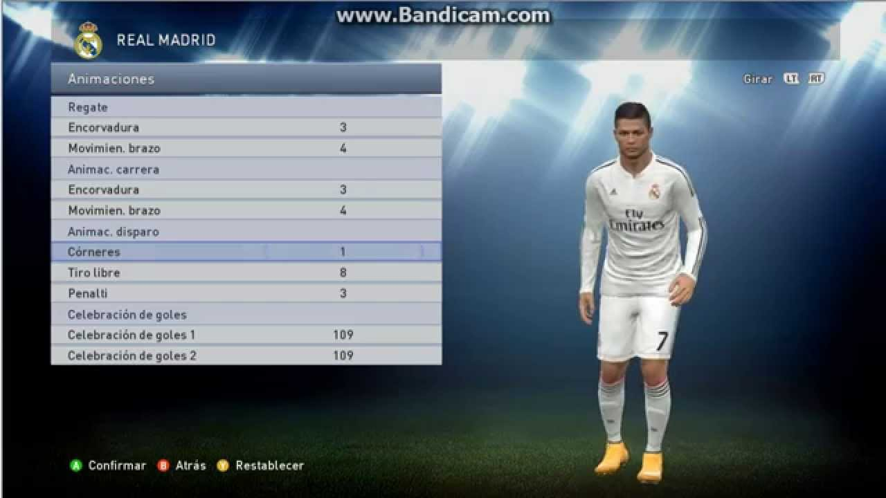 Real Madrid Pes Stats