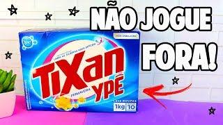 O QUE FAZER COM CAIXA DE SABÃO EM PÓ - DIY DO LIXO AO LUXO