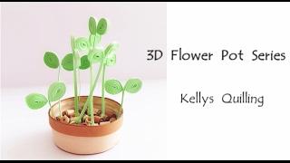 3D Quilling Flower Pot Series   Quilling Flower Pot 4