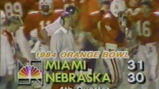The Orange Bowl Game 1984: University of Miami / Nebraska