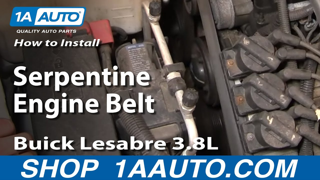 How To Install Repair Replace Serpentine Engine Belt Buick Lesabre ...