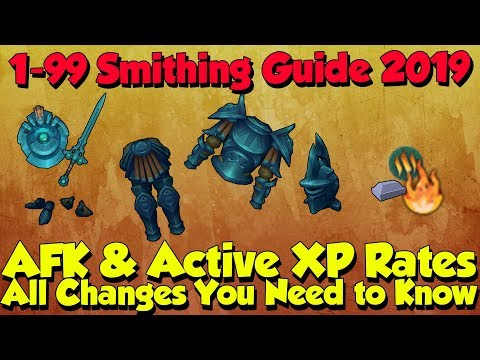 1-99/120 Smithing Guide! Fast & AFK Methods [Runescape 3] New Post-Rework