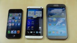 htc one vs apple iphone 5 vs samsung galaxy note 2 benchmark   swagtab
