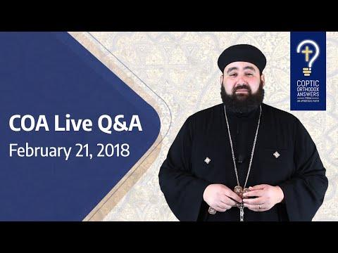 COA Live Q&A Feb  21, 2018