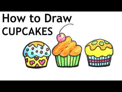 How To Draw Cupcakes Very Easy Youtube