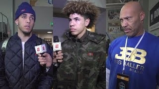 LiAngelo, LaMelo and LaVar Ball interviewed ahead of professional debut in Lithuania | ESPN