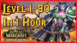 World of Warcraft Leveling Time-Lapse [60FPS] WoW Level 1-90 In One Hour
