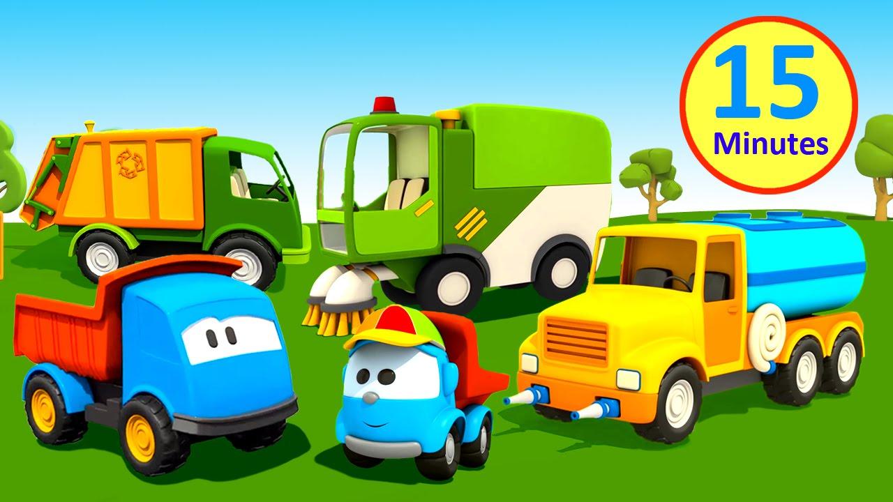 Cartoni animati per bambini leo il camion ama l ambiente