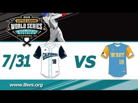 2018 Intermediate World Series Game 12: West vs CA District 57 (Host)