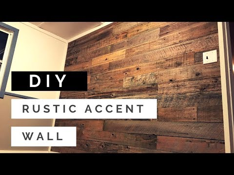 DIY Reclaimed Pallet Wood/Fencing Rustic Accent Wall