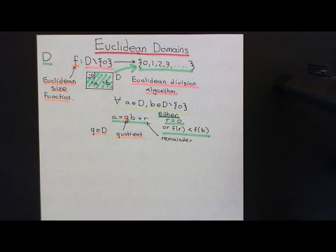 Euclidean Domains Part 1
