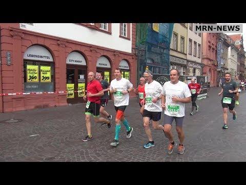Heidelberg -  Sparkassenmarathon 2017 -OB Eckart Würzner + Delegation aus Palo Alto dabei