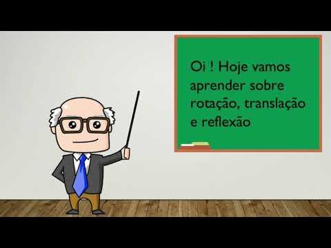 Видео Rotação translação e reflexão de vetores