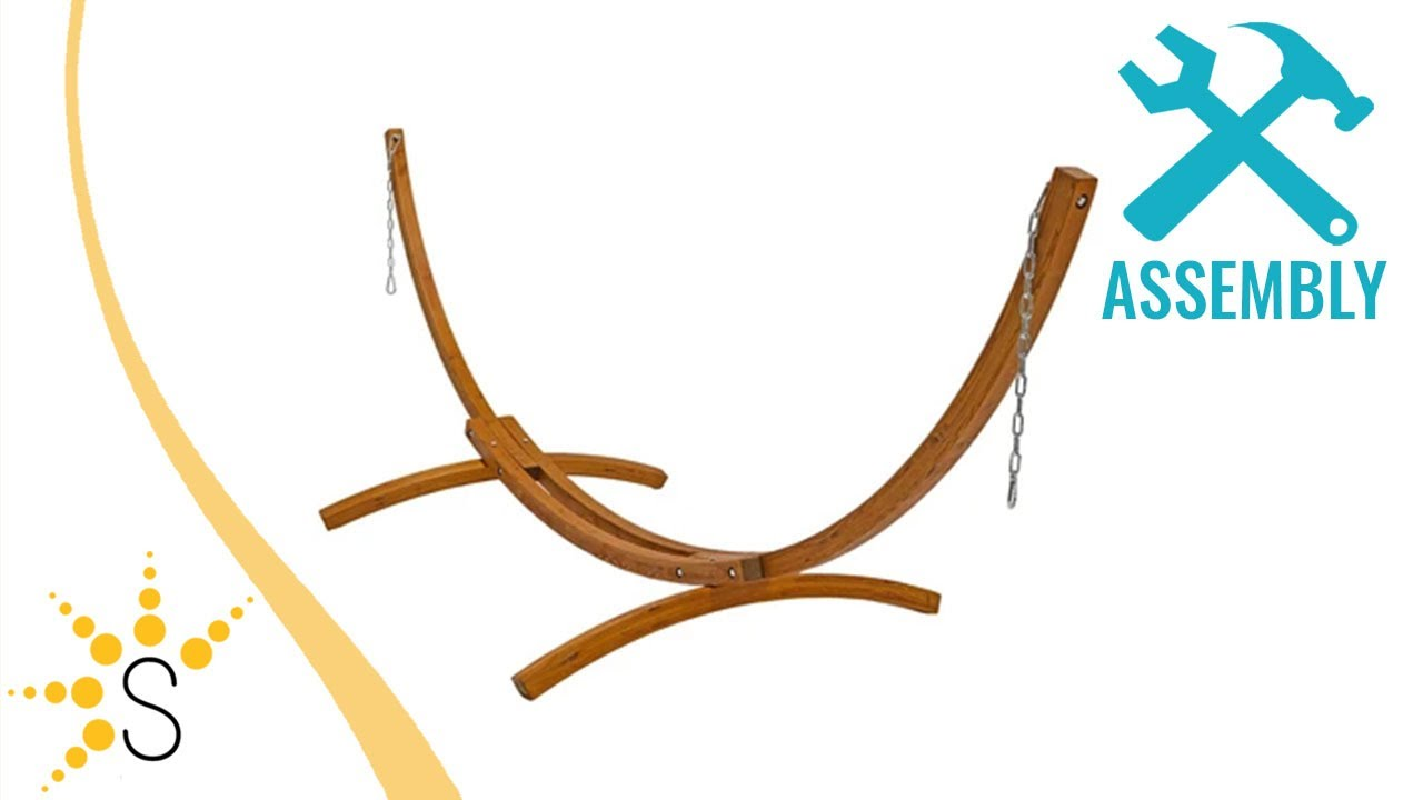 sunnydaze wooden curved arc hammock stand   wsn whs sunnydaze wooden curved arc hammock stand   wsn whs   youtube  rh   youtube