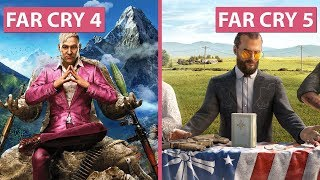 [4K] Far Cry 4 vs. Far Cry 5 Graphics Comparison