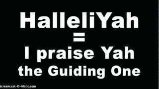 How to Pronounce Hebrew Words In HalleluYah Scriptures