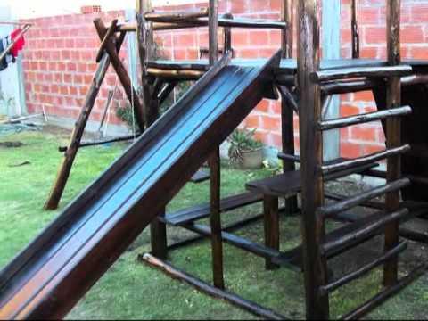Juego rustico en madera paraiso rustico youtube for Juegos de jardin infantiles de madera
