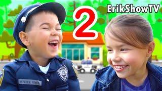 Erik Show POLICE 2. Глеб играет в ПОЛИЦИЮ. Pretend play police / Erik Show