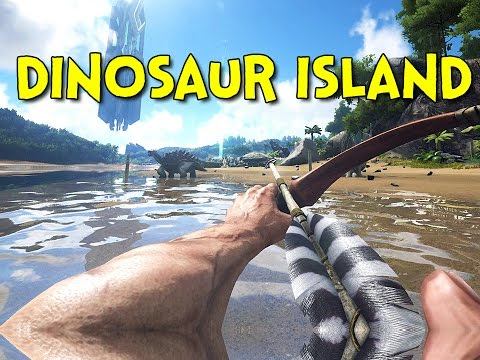 DINOSAUR ISLAND! - Ark: Survival Evolved - Ep.1