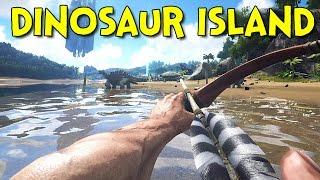 DINOSAUR ISLAND! - Ark: Survival Evolved - Ep.1