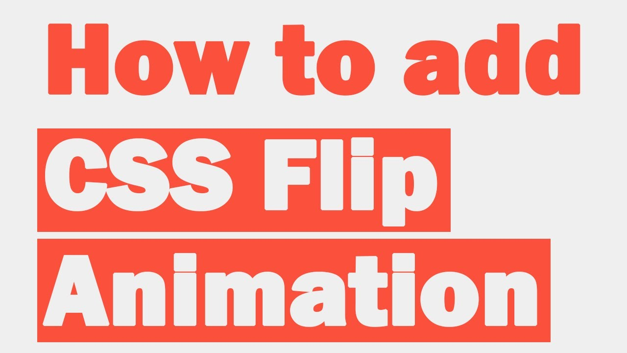 How to add CSS Flip Animation
