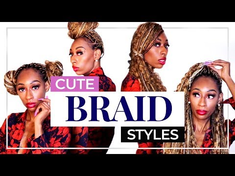 5 SUPER EASY HAIRSTYLES FOR BRAIDS (PROTECTIVE STYLES) |LALAMILAN thumbnail