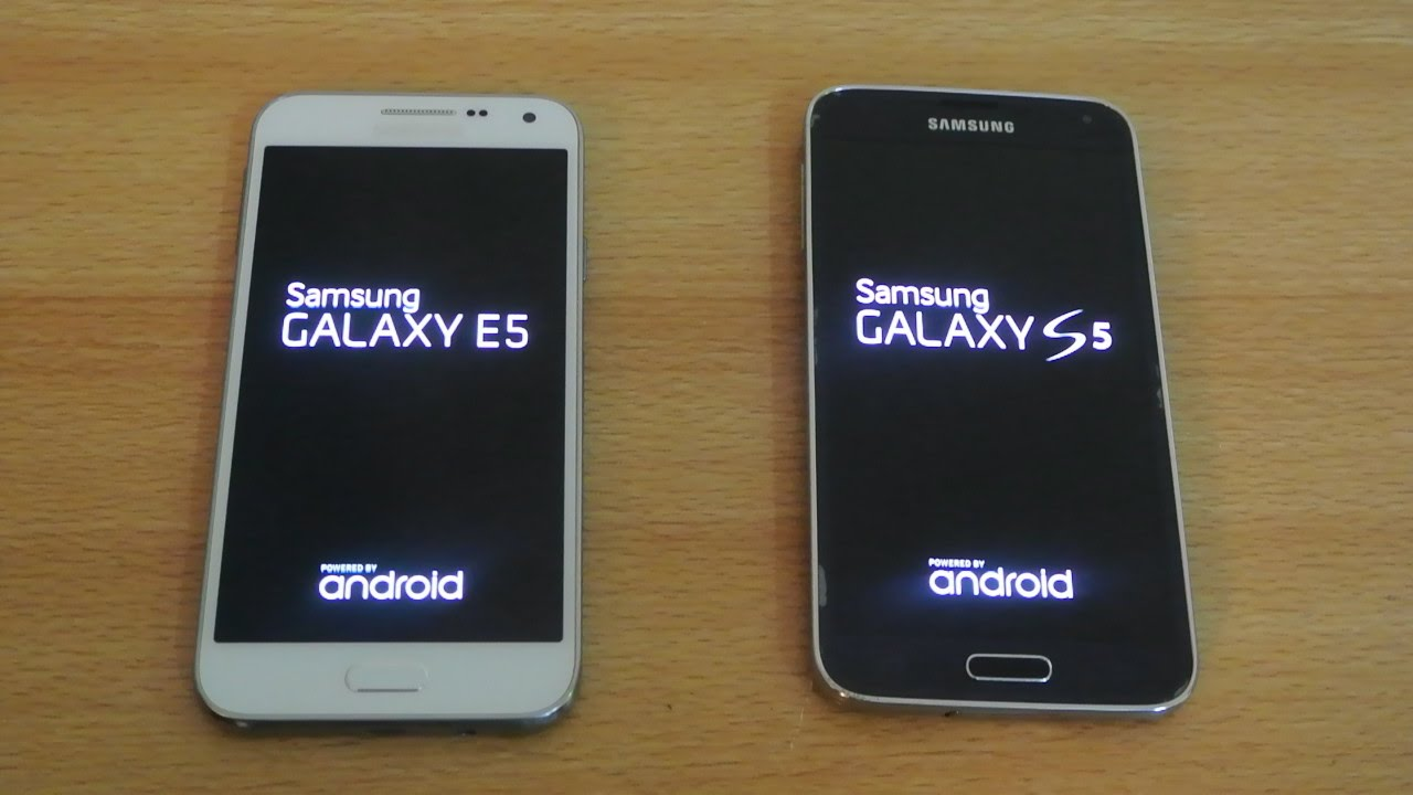 Samsung Galaxy E5 vs Samsung Galaxy S5 - Which Is Faster? - YouTube